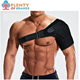 Plenty of Brands Shoulder Stability Brace with Pressure Pad - Lightweight, Breathable Shoulder Support for Rotator Cuff, Dislocated AC Joint, Labrum Tear, Shoulder Pain, Compression Sleeve