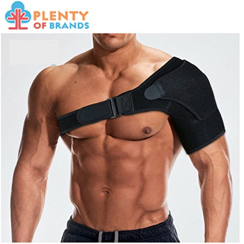 Plenty of Brands Shoulder Stability Brace with Pressure Pad - Lightweight, Breathable Shoulder Support for Rotator Cuff, Dislocated AC Joint, Labrum Tear, Shoulder Pain, Compression Sleeve by Plenty Of Brands