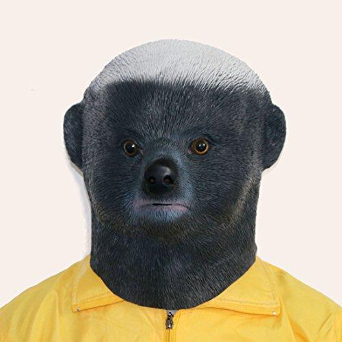 xihazu animal Honey Badger mask , latex animal Head, Halloween mask (Honey Badger Adult Costumes)