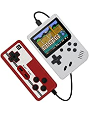 Retro Portable Mini Handheld Video Game Console 8-Bit 3.0 Inch Color LCD Kids Color Game Player Built-in 400 Games,White
