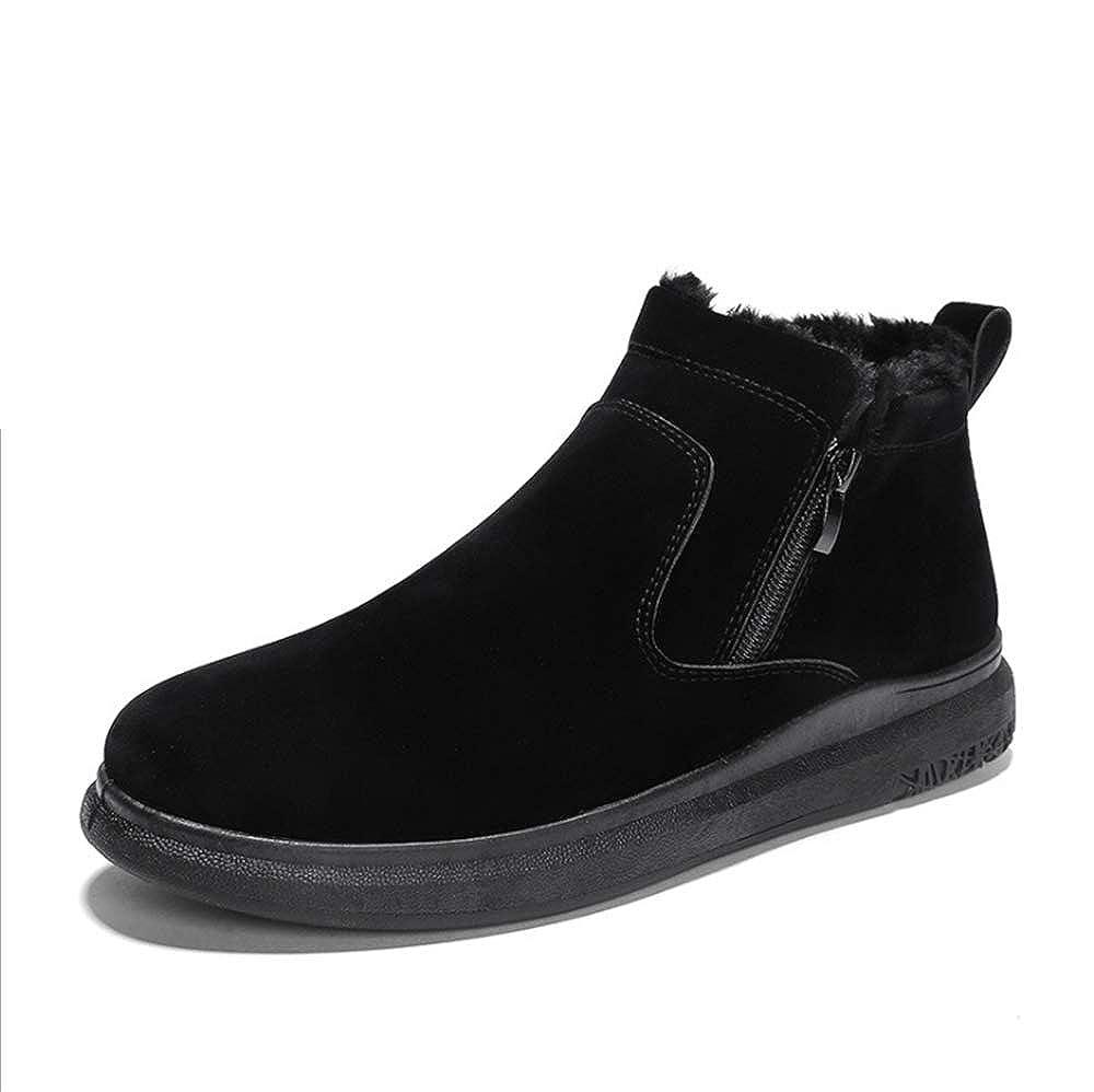 Spricen Baumwolle Winter Herrenschuhe Casual Plus Warm Zipper Schneeschuhe Baumwolle Spricen Schuhe Brot Schuhe Schwarz 68271c