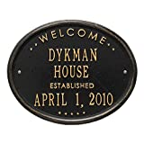1390 - Personalized Welcome Oval House Established