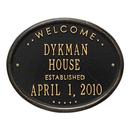 1390 - Personalized Welcome Oval House Established by Personalized Products by Whitehall