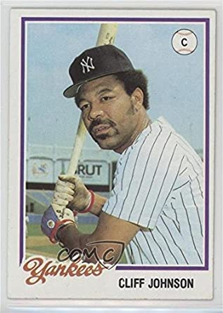 Amazoncom Cliff Johnson Baseball Card 1978 Topps Burger