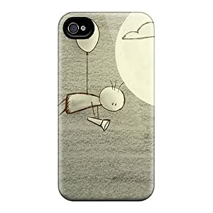 For SotgYdD3606lNfhG Love Drawings Protective Case Cover Skin/iphone 4/4s Case Cover