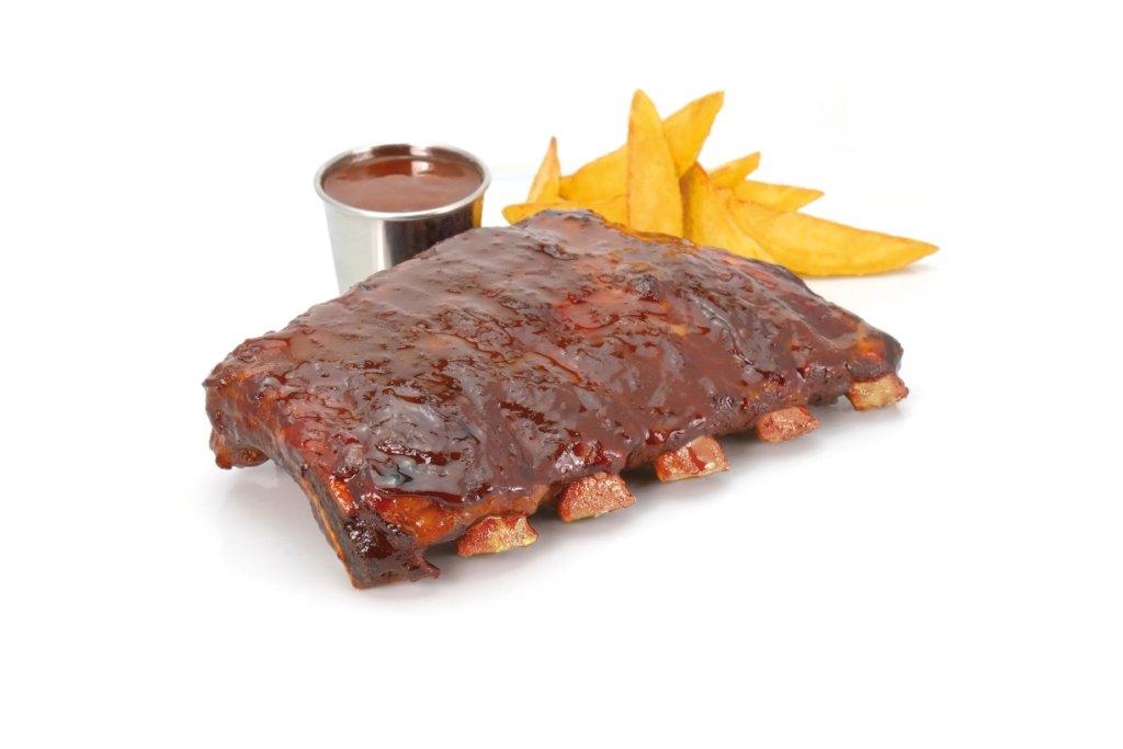 CASCAJARES - Costillas de Cerdo con salsa barbacoa, dos raciones para picar, una para comer. Sin gluten.: Amazon.es: Alimentación y bebidas