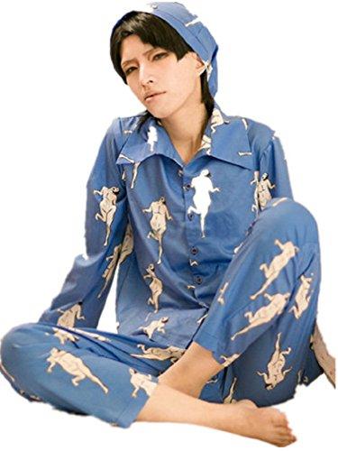Shingeki No Kyojin Rivaille Costume (attack on titan Rivaille pajamas Long sleeve whole set cosplay costume pyjamas cosplay costume)