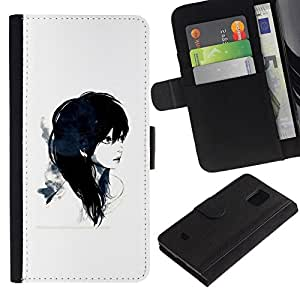 NEECELL GIFT forCITY // Billetera de cuero Caso Cubierta de protección Carcasa / Leather Wallet Case for Samsung Galaxy S5 Mini, SM-G800 // Emo Girl 2