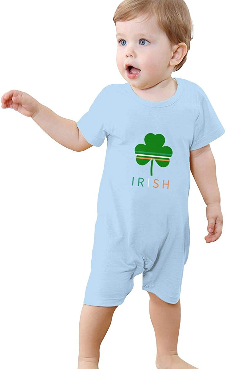 Irish Clover Baby Short Sleeve Rompers Summer Pajama Jumpsuit Bodysuit Coveralls