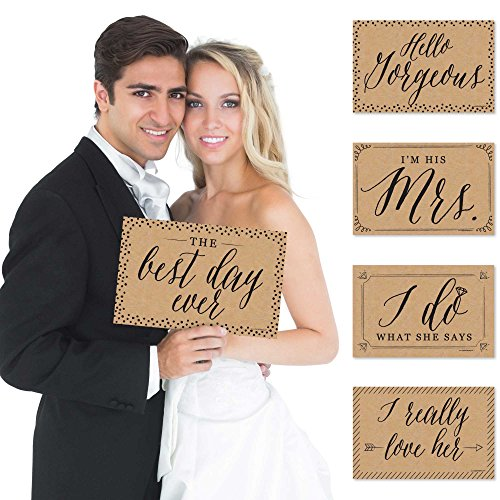 Wedding - Photo Prop Kit - 10 Count