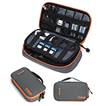 BAGSMART Compact 4-layer Travel Electronic Accessories Organizer Small Universal Cable Bag Portable Case for Kindle, flash drive, Apple cables, Chargers, Batteries