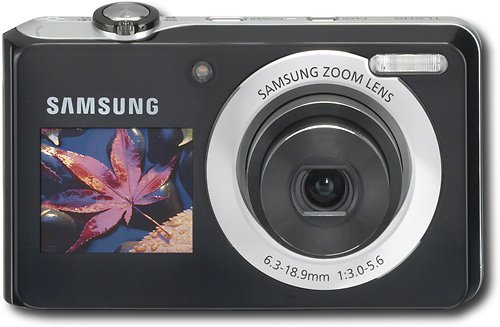 Samsung TL205 12 Megapixel Digital Camera with 3x Optical Zoom, Dual LCD Screens, Smart Auto, Digital Image Stabilization, Silver - Lcd Dig Camera