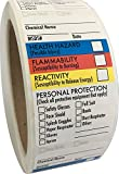 "SDS Stickers/MSDS Stickers, 250 Adhesive Labels, 1.5""x2.5"", Right to Know - Chemical Identifying and Marking (2 Rolls) by Safety Supply Mart"