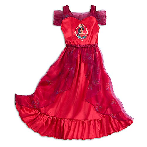 Disney Elena of Avalor Nightgown for Girls Size 9/10 (Ruffled Satin Nightgown)