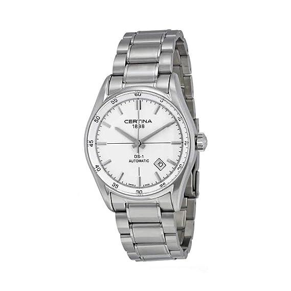 Certina DS - 1 - Reloj de pulsera hombre, acero inoxidable, color plateado: Amazon.es: Relojes