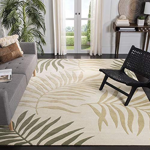 Safavieh Soho Collection SOH335B Handmade Ivory and Multi Premium Wool Area Rug 7'6″ x 9'6″