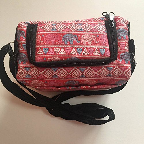 Oval Pet Carrier - Hot Sale! Classic Elephant Style Sugar Glider Bird Hamster Squirrel Chinchillas Small Pet Travel Cage Shoulder Bag Comfort Carrier By Polar Bear's Republic (Pink)