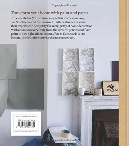 farrow ball how to decorate transform your home with paint paper amazoncouk farrow ball joa studholme charlotte cosby books