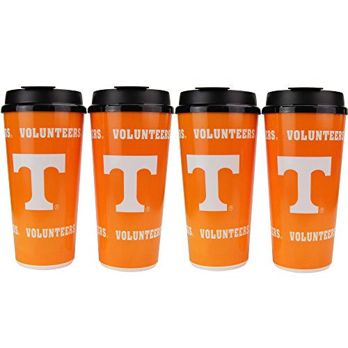Tennessee Vols Tailgate - NCAA 32oz Large Tailgate Cups w/Lids 4-Pack (Tennessee Volunteers)