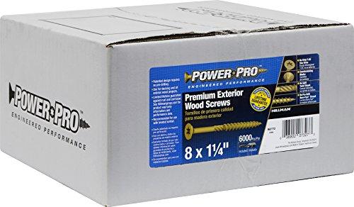Hillman 967772 Power Pro Premium Exterior Wood Screw, 8 X 1 1/4-Inch, 6000 pack by Hillman (Image #2)