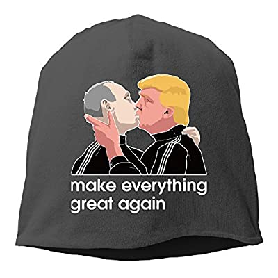 Trump Kissing Putin Beanie Hat Knit Cap For Adult (6 Colors)