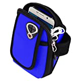 SumacLife Lightweight Sport Running Gym Zipper Neoprene Armband Case Pouch for Samsung Galaxy S9+ / S9 / S8+ / S8 / J7V / J3 Emerge / C5 C7 Pro / A3 A5 A7 2017 / Xcover 4 (Blue)