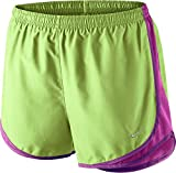 NIKE Women's Tempo Running Shorts (Key Lime/Fuchsia Flash, XS)