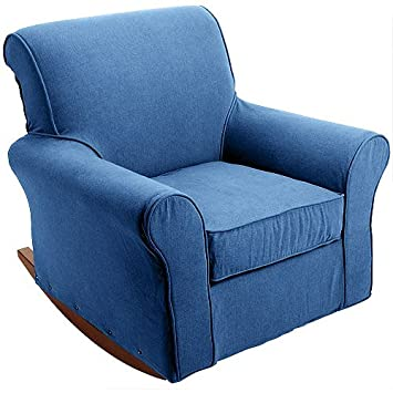 Dorel   Rocker Slipcover, Denim