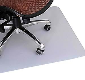 Homcom alfombra estera 75x120 cm protector de suelo para - Protector de suelo para sillas ...