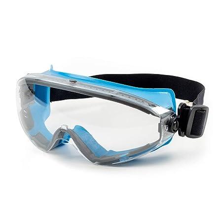 SolidWork Schutzbrille mit kratzfester Scheibe und Panoramablickfeld in Premiumqualität | Sicherheitsbrille mit perfektem Tra