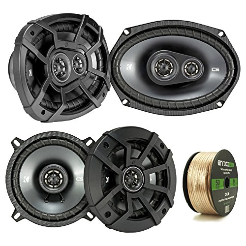 2 Pair Car Speaker Package Of 2x Kicker CSC54 450-Watt 5-1/4