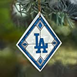 Los Angeles Dodgers Stained Glass Ornament