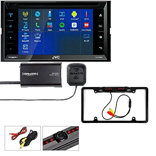 JVC Multimedia Receiver featuring 6.8 Clear Resistive Touch Panel, Bluetooth, SiriusXM Satellite Radio Vehicle Tuner Kit Replaced SXV300v1 And Backup Camera