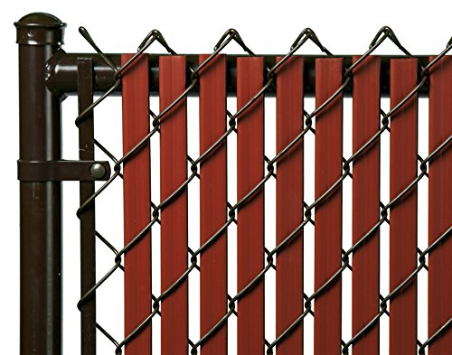 6ft Redwood Tube Slats for Chain Link Fence