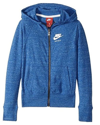 Nike Sportswear Gym Vintage Big Kids (Girls) Hoodie (Small, Blue Jay)