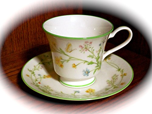 (Noritake Ivory China Reverie Cup and Saucer (#7191) Made In Japan)