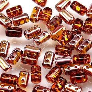 - Czech Rulla Beads 22 Grams 3 x 5mm TOPAZ GOLD CAPRI