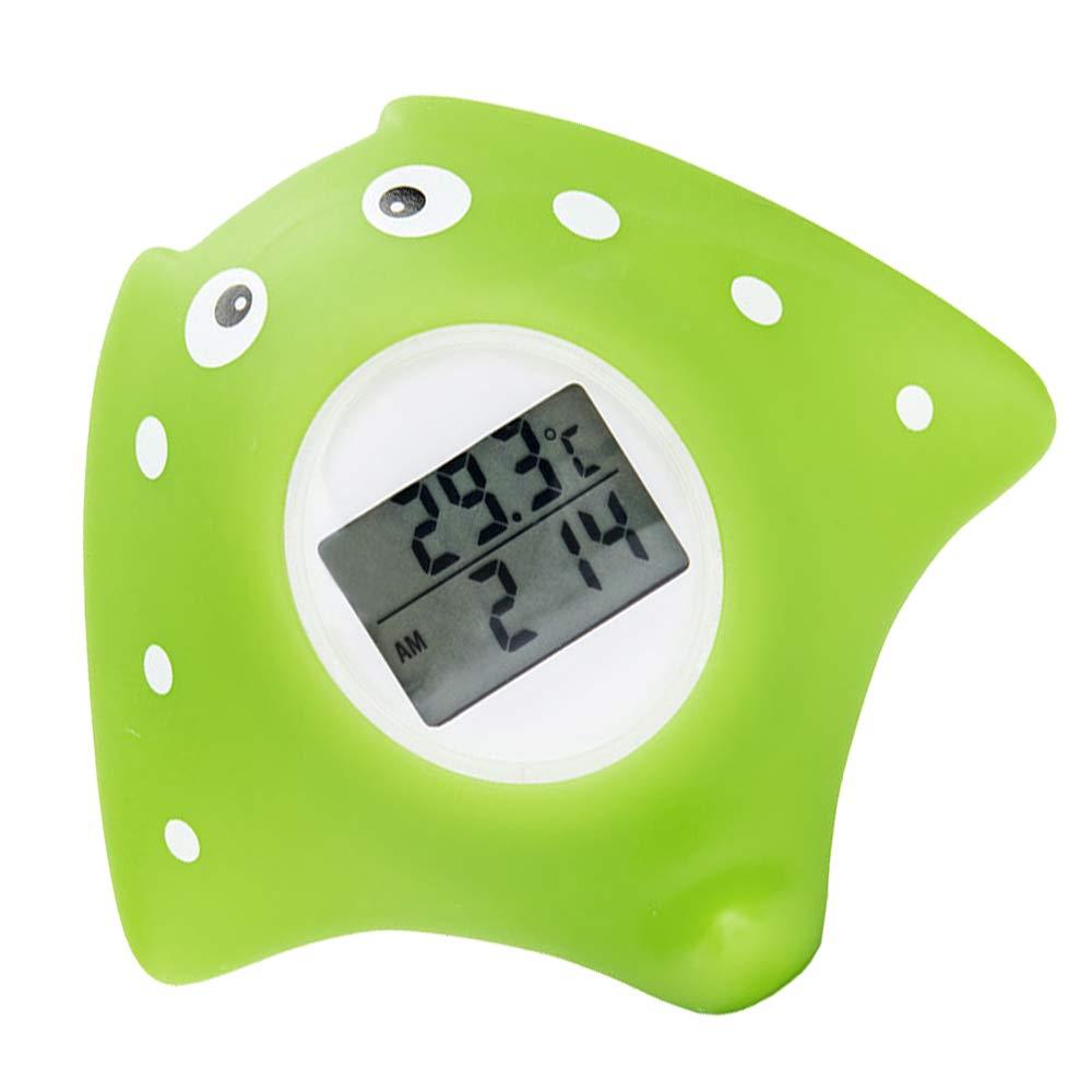 3.7x3.8x1.3cm Fisch Design Badwannenspielzeug f/ür Babys,Kunststoff digitales Wasserthermometer Baby f/ür sicheres Baden Charlemain Badethermometer