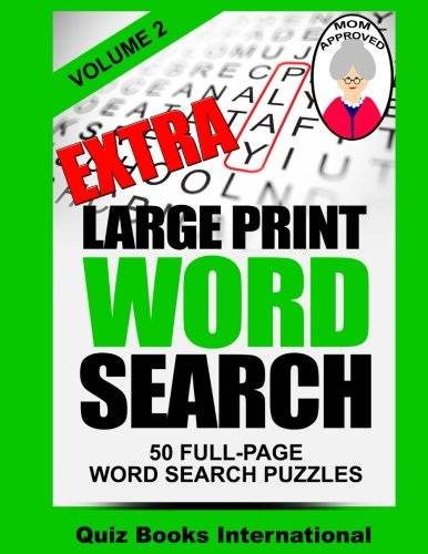 Extra Large Print Word Search Volume 2 Paperback – Large Print, December 3, 2014 Mike Edwards 1505323096