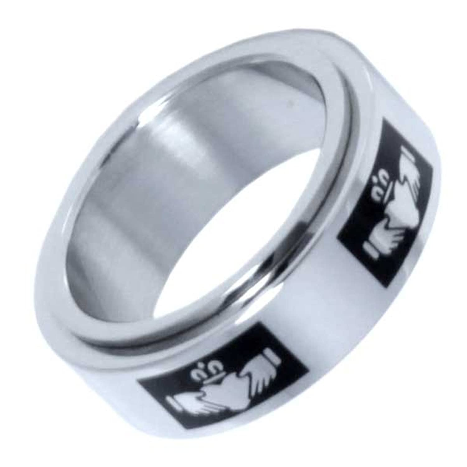 in mani tibetan padme silver jewelry rings rotate can wedding om mantra sanskrit power hum never fade lucky ring rotating blessing bands buddhist item from
