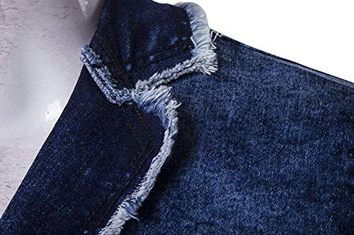 Blazer Bleu XL Bleu Zhrui In Casual Hommes Couleur Vestes Taille qwaxH