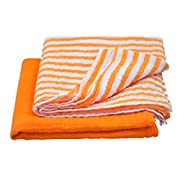 green sprouts Muslin Swaddle Blankets made from Organic Cotton,Orange Set