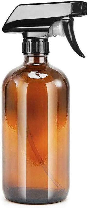 N-A Botella de pulverización, pulverizador vacío de plástico, recipiente rellenable para limpieza y jardinería (marrón, 250 ml)
