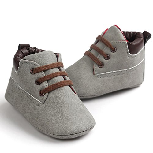 Baby Kinder Weiche Sohle Leder Schuhe, Zolimx Junge Mädchen Kleinkind Boots Grau