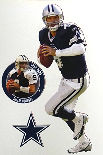 Tony Romo Wall (Tony Romo Mini Fathead + Cowboys Logo Official NFL Vinyl Wall Graphics 7
