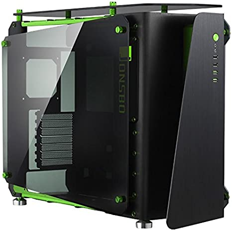Jonsbo MOD1-MINI ITX-Tower Negro, Verde - Caja de Ordenador (ITX-Tower, PC, Aluminio, Vidrio Templado, Mini-ITX, Negro, Verde, 17,5 cm): Amazon.es: Informática