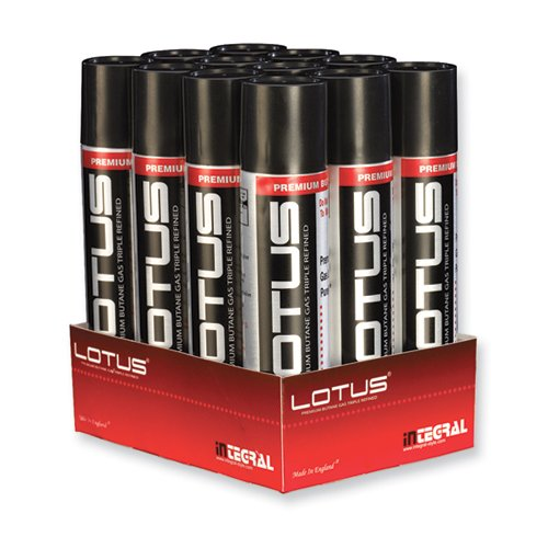 Lotus Butane 1 dozen 90 ML cans