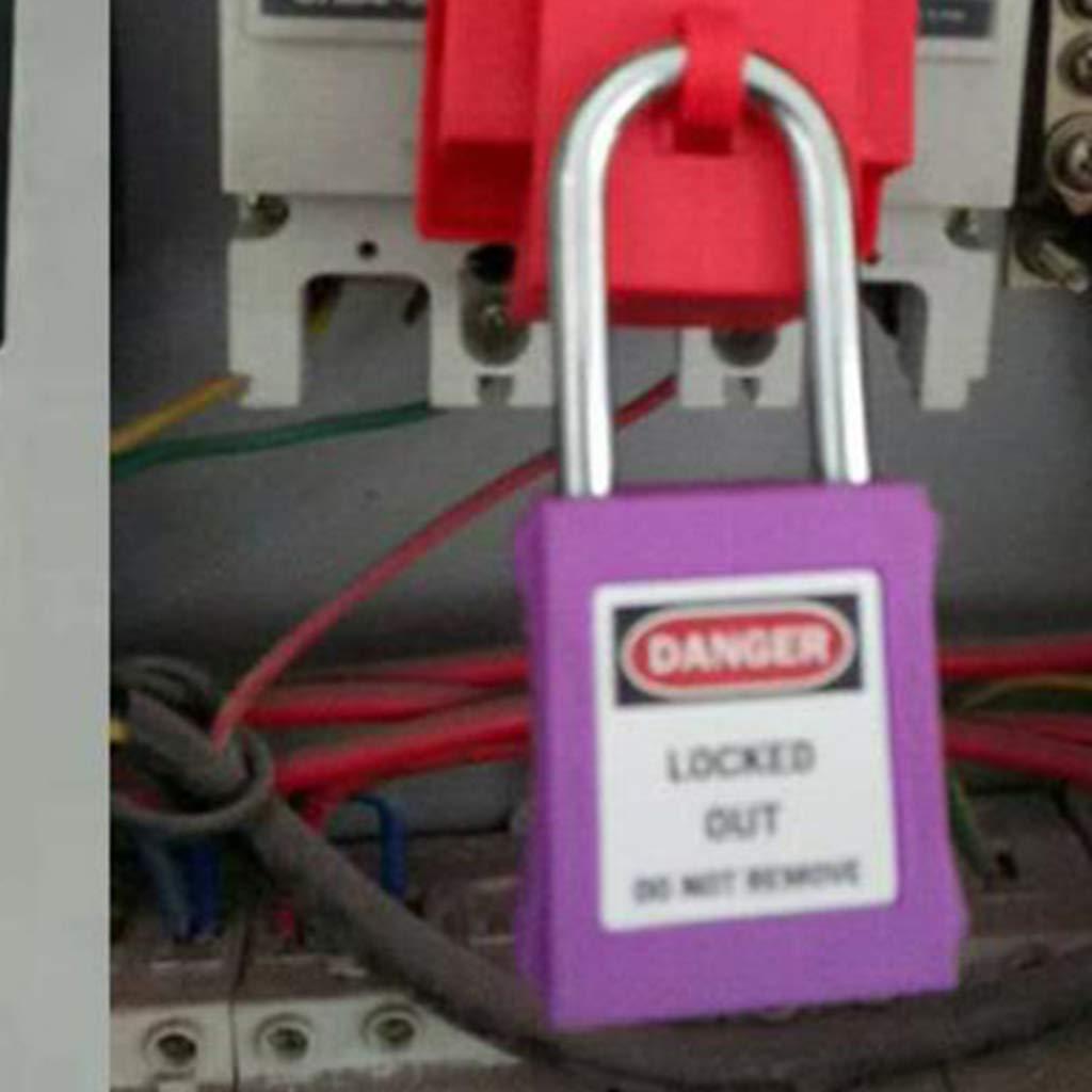 Alta Seguridad Candado Resistente con Alargado para Puerta Escuela Gimnasio Pool Locker Malet/ín Caja de Herramientas PL 38-KD 38mm PVC P/úrpura