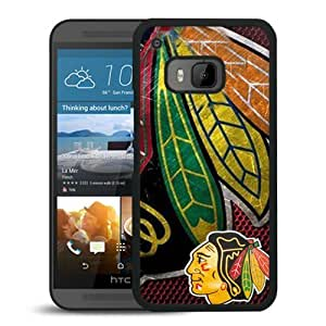 Chicago Blackhawks Black HTC ONE M9 Screen Phone Case High Quality Handmade Cover