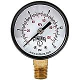 """Winters PEM Series Steel Dual Scale Economy Pressure Gauge, 0-15 psi/kpa, 2"""" Dial Display, +/-3-2-3% Accuracy, 1/4"""" NPT Bottom Mount"""